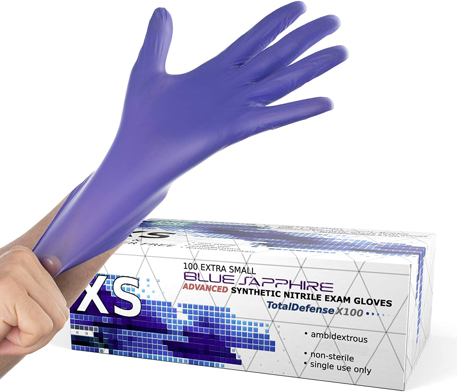 nitrile exam gloves