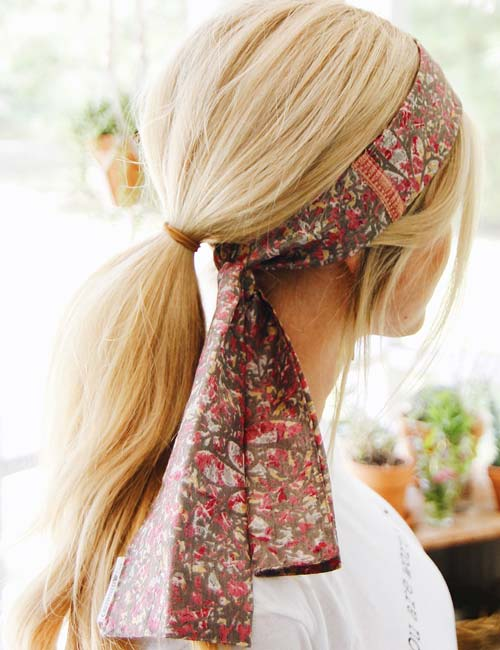scarf on hair
